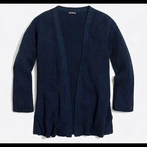J.crew Factory Navy Open Front Sweater